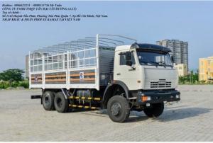 Xe tải thùng 53228 (6x6) 3 cầu tổng trọng tải 24 tấn