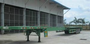 Đại lý Bán rơ moóc Doosung sàn 3 trục 40 feet 32 tấn nhập khẩu 2017