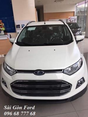 Khuyến Mãi Mua Ford Ecosport Titanium, Số Tự Động, Màu Trắng Ngọc Trinh, Hỗ Trợ Vay 100%, Giao Xe Ngay