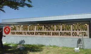 bảng hiệu chữ nổi Inox, thi công tại Cty Phong Dư Visip 2 Bình Dương