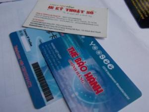 In thẻ nhựa làm thẻ bảo hành | Đăt in ngay khi gọi đến 09 09 09 96 60 - 08 2268 6666 để được tư vấn dịch vụ nhanh nhất