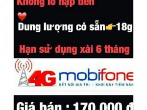 Sim 4g mobiphone dung lượng lớn 18g