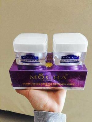 Bộ ủ trắng tươi sữa dê Mocha- Hình ảnh thật sản phẩm