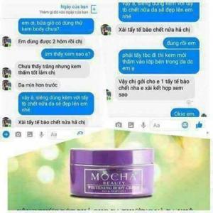 Kem body sữa lạnh Mocha_Phản hồi của khách hàng