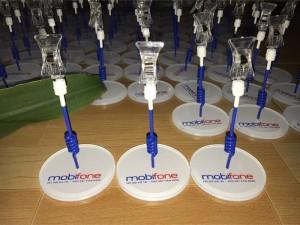 Wobbler để bàn Mobifone, wobbler quảng cáo Mobifone, sản xuất wobbler để bàn Mobifone