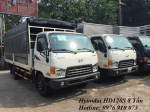 Xe tải Hyundai 8 tấn - Xe Hyundai HD120s 8 tấn - Tặng 100 lít dầu + Bảo hiểm thân xe