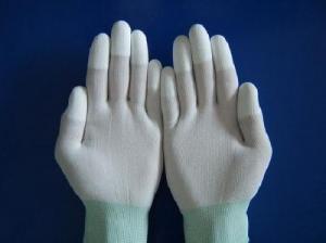 Găng tay phòng sạch phủ PU ngón màu trắng giá...