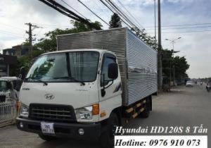 Xe Hyundai HD120s 8 tấn - Xe tải hyundai HD120s giá rẻ - Tặng 100 lít dầu+ Bảo hiểm thân xe