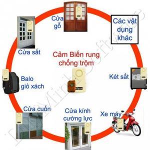 Báo động chống trộm cảm biến rung. An toàn cho mọi gia đình