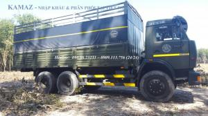 Xe tải thùng 53229 (6x4) tải trọng 24 tấn màu xanh quân đội