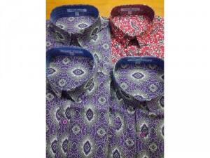 Áo sơmi nam ngắn tay hoạ tiết cao cấp vải sợi tre