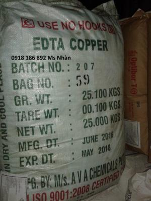 EDTA Cu  Cu : 15% Dạng bột màu xanh