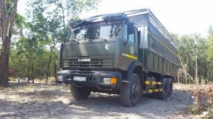 Xe tải thùng 53229 (6x4) mới 2016 màu xanh...