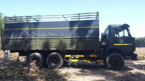 Xe tải thùng 53229 (6x4) mới 2016 màu xanh quân đội