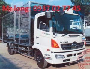Xe tải HINO 6 tấn thùng kín, xe tải HINO...