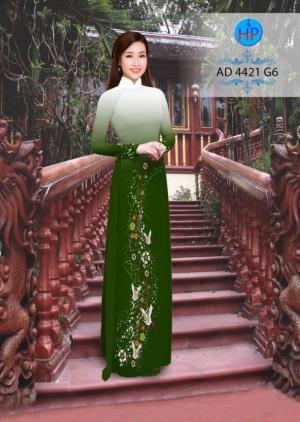 Vải áo dài hình hạc AD4421