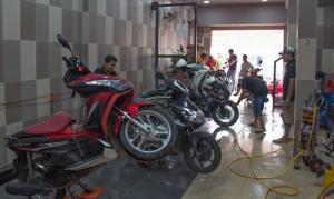 tư vấn mở tiệm rửa xe máy