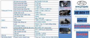Xe ben faw 6 tan 9 4.8m3 động cơ hyundai