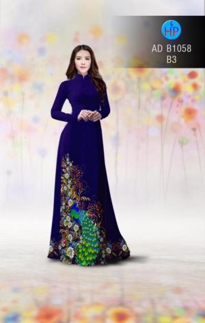 Vải áo dài hình công AD B1058