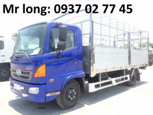 xe tải HINO 6T2 MUI BẠT , XE TẢI HINO FC9JJSW mui phủ , HINO TẢI MUI BẠT