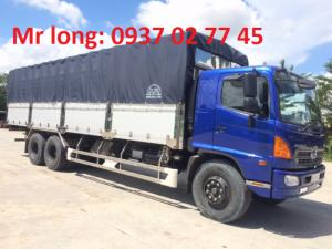 Hino FL8JW7A mui bạt , xe tải Hino 15 tấn mui phủ , xe tải Hino 3 chân tải trọng 15 tấn ,  xe tải Hino FL8JTSL thùng mui bạt bửng nhôm , đại lý xe tải Hino .