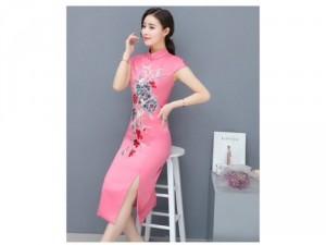 Đầm body thêu hoa cao cấp Quảng Châu