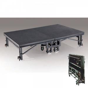 BỤC SÂN KHẤU DI ĐỘNG + Mã: NH-BSK-002 + Kích thước: (W)1830x(D)2440x(H)410-610 mm  + Chất liệu: gỗ, sắt sơn, thảm xám
