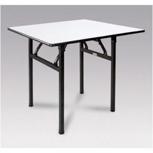 BÀN HỘI NGHỊ HÌNH VUÔNG + Kích thước: (W)800x(D)800x(H)760 mm + Bàn gỗ ván ép dày 18mm, mặt bàn bao phủ nhựa PVC trắng, mép bàn phủ nhựa PVC đen + Khung chân sắt sơn, gấp được