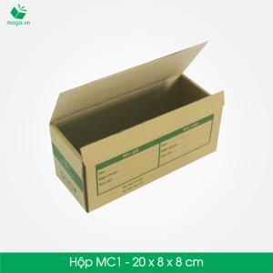 MC1- Hộp Cao 20x8x8 cm- Hộp giấy Carton đóng gói gửi hàng thu hộ COD