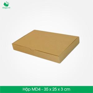 MD4 - Hộp dẹt 35x25x3 cm- Hộp giấy Carton đóng gói gửi hàng thu hộ COD