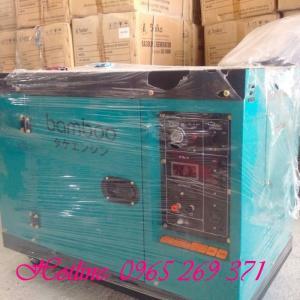 Máy phát điện chạy dầu chống ồn 7.5kw Bamboo, thương hiệu từ Nhật Bản