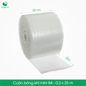 B4 - Cuộn bóng khí  - màng xốp hơi  Size 20x25m- Hộp giấy Carton đóng gói gửi hàng thu hộ COD