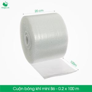 B6 - Cuộn bóng khí  - màng xốp hơi Size 20x100m- Hộp giấy Carton đóng gói gửi hàng thu hộ COD