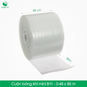 B11 - Cuộn bóng khí  - màng xốp hơi  Size 45x 50m- Hộp giấy Carton đóng gói gửi hàng thu hộ COD