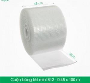 B12 - Cuộn bóng khí  - màng xốp hơi   Size 45x 100m- Hộp giấy Carton đóng gói gửi hàng thu hộ COD