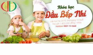 Khai giảng lớp học nấu ăn cho trẻ em