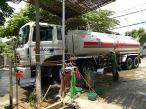 Bán xe tec xăng dầu cũ HD320 sx năm 2012