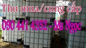 2.Thùng đựng hóa chất 1000 lít  qua sử dụng  Miệng bồn:  Đường kính 150mm, -Van đáy bồn:  Đường kính 50mm          -Khung bồn: Khung sắt mạ kẽm     -Dung tích:  1000 Lit    -K.thước:  1186mm x 1000mm x1200mm -Hàng cũ 80_95%
