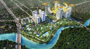 Topaz Elite - Topaz city GĐ2 -3 MT View Sông căn 2PN