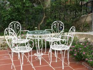 Bộ bàn ghế sắt mỹ thuật sân vườn đẹp, giá tốt nhất - MS3