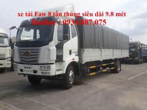 Xe tải faw 8 tấn (8t) thùng siêu dài 9.8 mét - bán xe tải Faw 8 tấn nhập khẩu thùng dài 9.8m