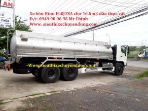 Xe bồn Hino 15 tấn chở dầu thực vật, xe bồn...