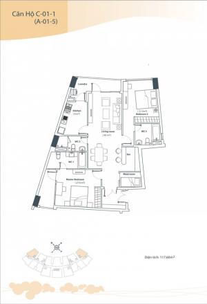 Bán căn hộ Himlam Riverside Q7, 117m2 tặng nội thất, sổ hồng 4,2tỷ