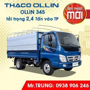 XE TẢI THACO OLLIN345 tải trọng 2,4 tấn, Trước bạ 100%