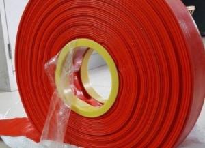Ống Bạt Đỏ cam Tải Nước Hàng có Sẵn Cuộn 100m Số Lượng Lớn D65- D150mm