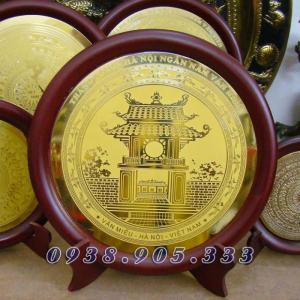 Đĩa đồng ăn mòn khue văn các quà tặng cao cấp