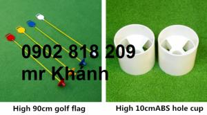 Bộ lỗ golf cột cờ golf nhựa, cờ golf mặt cười