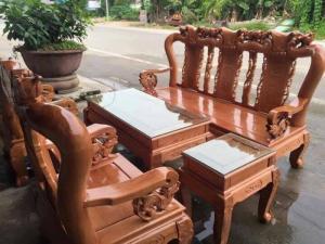 Bộ bàn ghế sồi nga tay 10