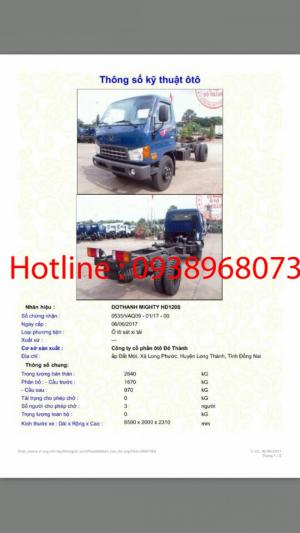 Khuyến mãi trước bạ xe hyundai HD120s 8 tấn - 0938968073