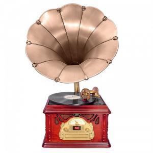 Loa kèn nghe đĩa than kiểu cổ Pyle Vintage PTCDS3UIP Classical Trumpet Horn Turntable được thiết kế từ gỗ tự nhiên với kiểu dáng cổ điển, rất thích hợp để trang hoàng cho căn phòng của bạn